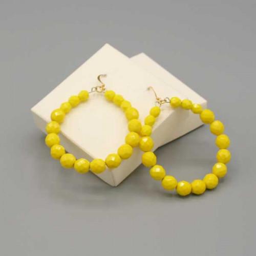Orecchini a cerchio gialli