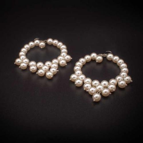 Orecchini fatto a mano con perle in resina butterfly